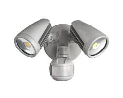 MARMLXF3452MS   Martec Fortress II 30W Tricolour IP54 LED Twin Spot Light with PIR Sensor