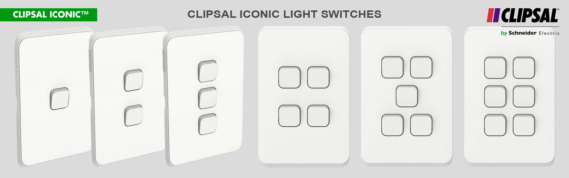 Clipsal Iconic Light Switches