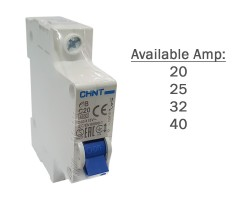 CHINT MCB | eB-1P | Circuit Breaker 4.5kA | 20A, 25A, 32A, 40A