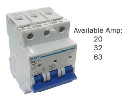 CHINT MCB | NB1-63 3P | Miniature Circuit Breaker 6kA DB | 20A, 32A, 63A