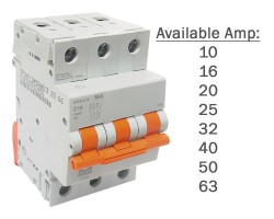 NHP 3 Pole Circuit Breakers MCB 6kA   MOD6-3