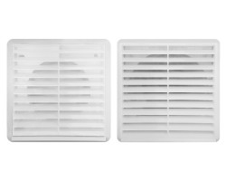White External Fixed Louvred Grille 100mm, 125mm, 150mm | Fantech