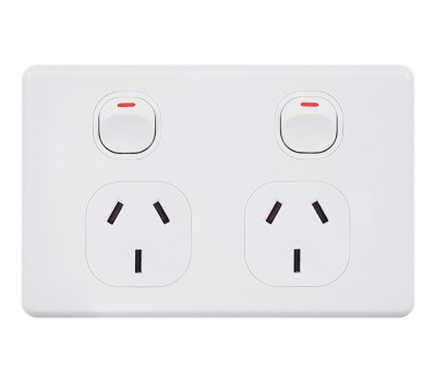 BEPGPOD  Double Power Point 10Amp Classic Style