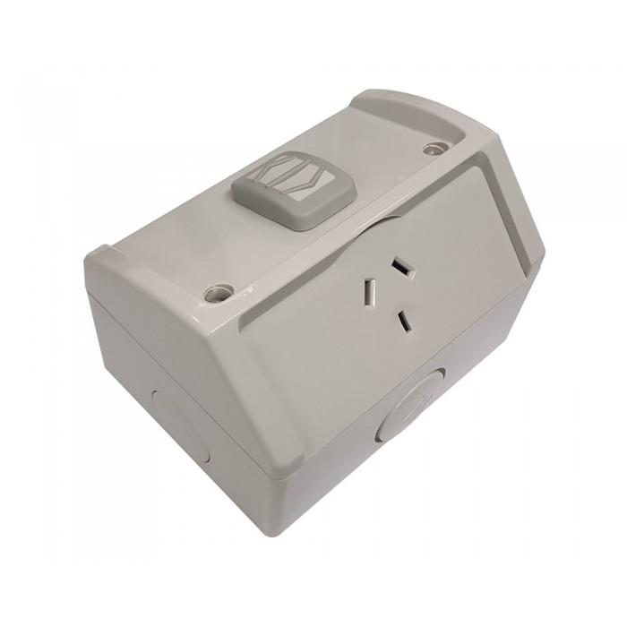 Clipsal Wsc227 1 Single Weatherproof Power Point Gpo