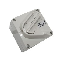 Clipsal WHA120 | Weatherproof Isolator, Surface Switch, 1 Gang, 1 Pole, 250VAC, 20A, Hoseproof, M80 Rating 20Amp | WHA120-RG